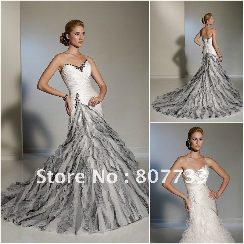 Buy free shipping mermaid sweetheart for Black mermaid wedding dresses