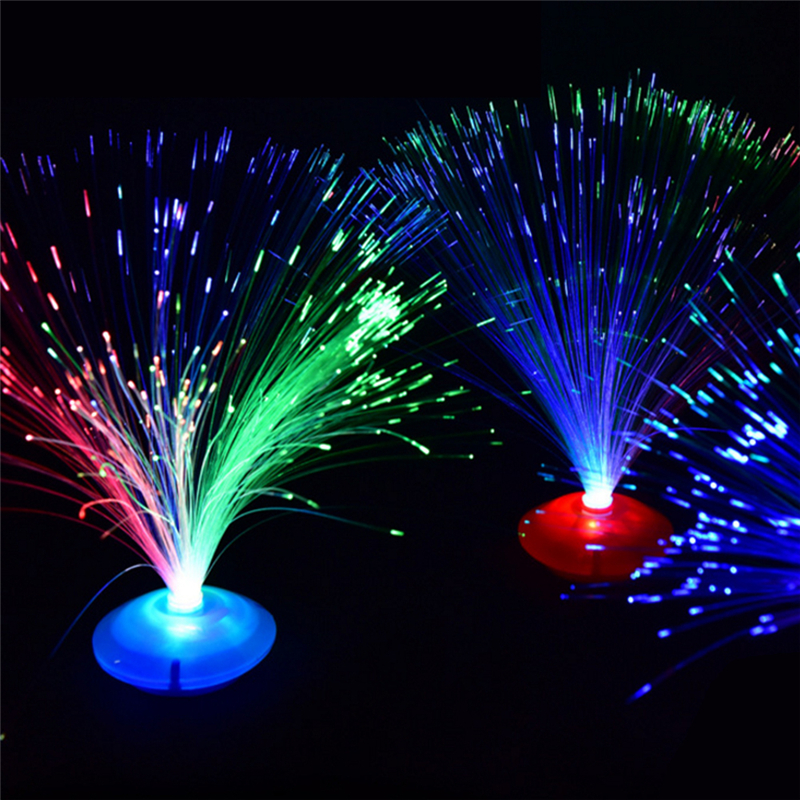 Novelty Indoor Lighting LED Fiber Optic Nigh Llight Lamp Color Changing Flash Small Nightlight Holiday Party Decorations