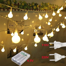 10M/20M/30M LED Ball String Lights 110V/220V Christmas Fairy Garland Outdoor Waterproof For Holiday Party Garden Home Decor Lamp недорого