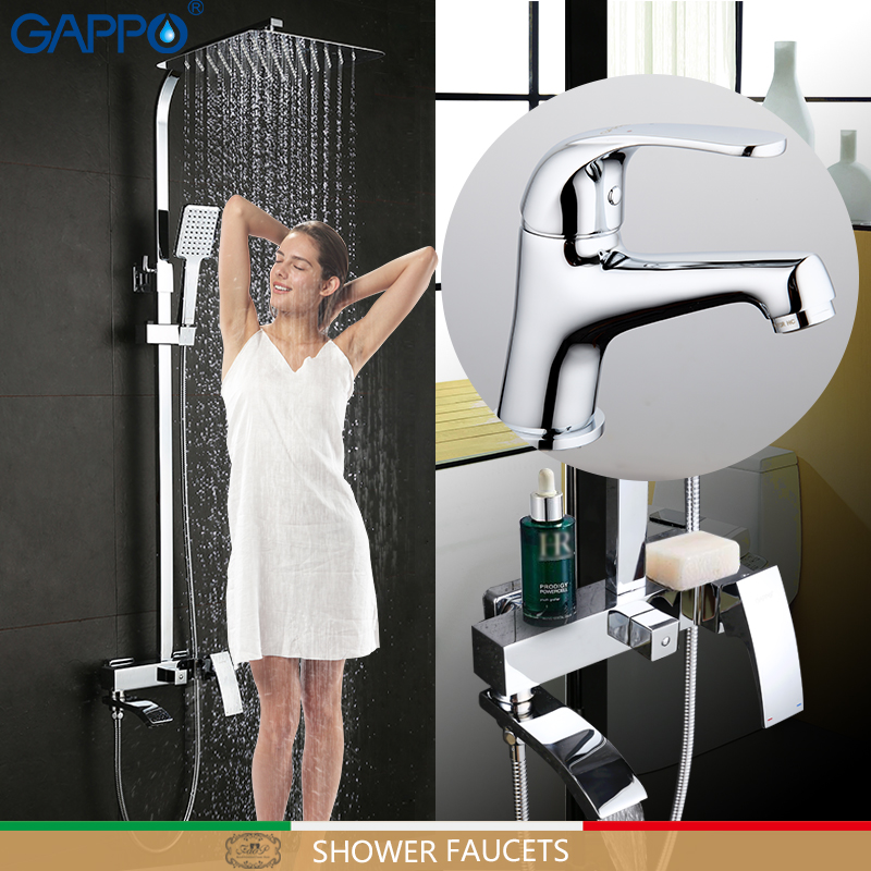 GAPPO Shower Faucets bathroom faucet mixer basin faucets basin sink tap shower system Sanitary Ware Suite