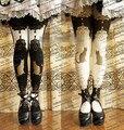 Princesa doce meia calça lolita japonês harajuku lolita palácio restaurar antigas formas de alça de impressão meia calça LKW59