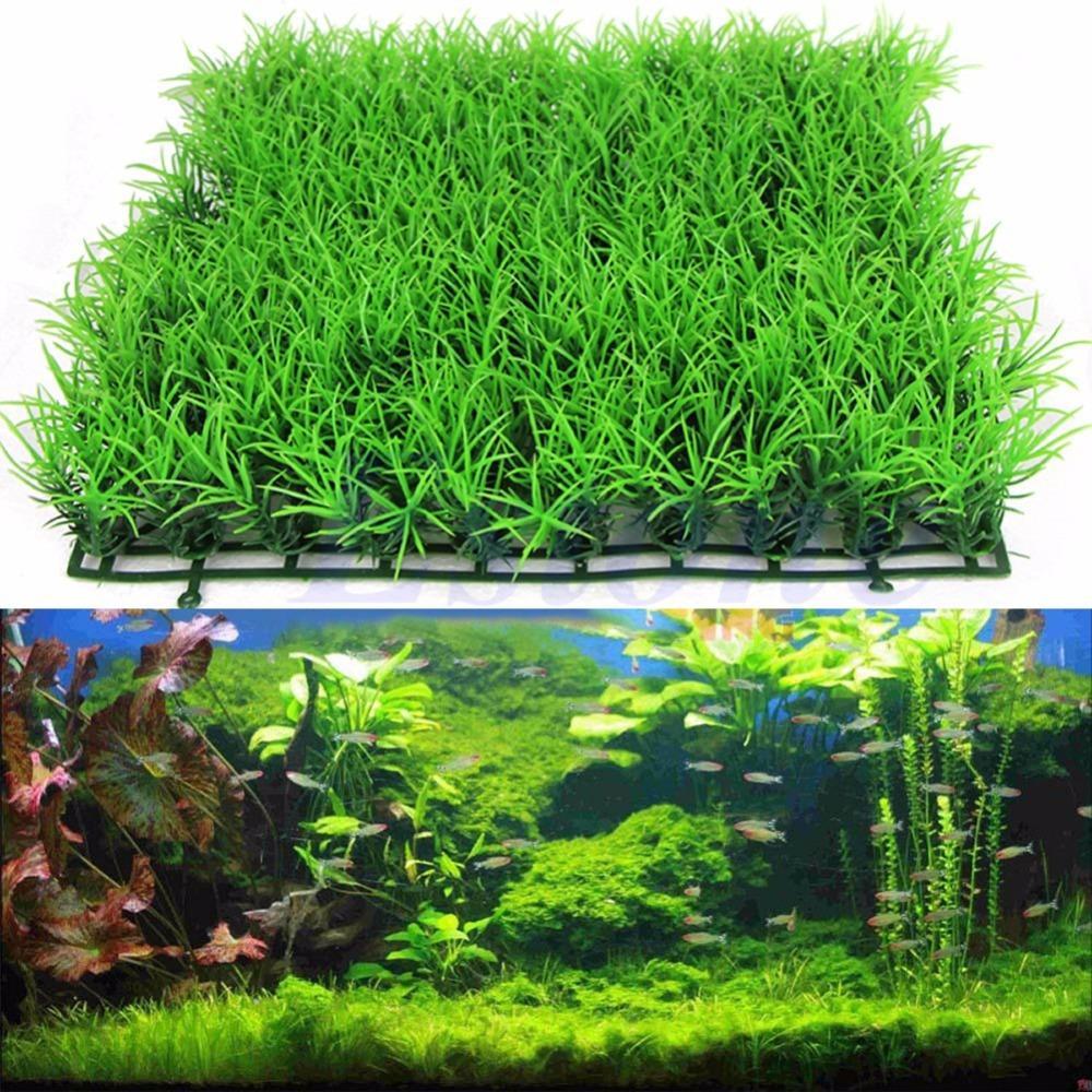 New Artificial Water Aquatic Green Grass aquario Plant Lawn Fish Tank ...