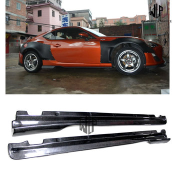 High quality Carbon Fiber Side Skirts Car Styling Fit For Toyota GT86 BRZ Car Body Kit 12-15 image