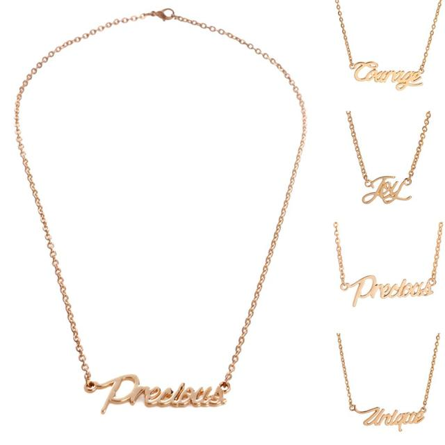 Best Gold Plated Simple Monogrammed Necklaces