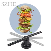 Aliexpress cheapest 42cm 3d hologram fan led advertising display with sd card