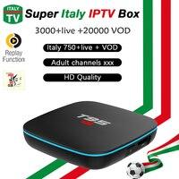 Italian Europe T95 R1 IPTV Box S905W Android TV Box 7 1 Germany UK IPTV 3000