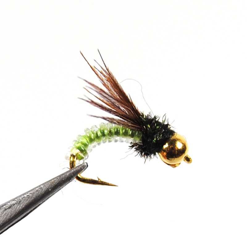 10pcs Beadhead PM Caddis #14, Nymphs, Dry Fly Fishing Trout Flies 10pcs beadhead pm caddis 14 nymphs dry fly fishing trout flies