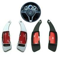* DSYCAR 1 Pair Xe Chỉ Đạo Bánh Xe Phím Shift Covers New Nội Thất Mái Chèo Sửa Đổi Xe Styling Đối Với Mercedes Benz Dòng Ph