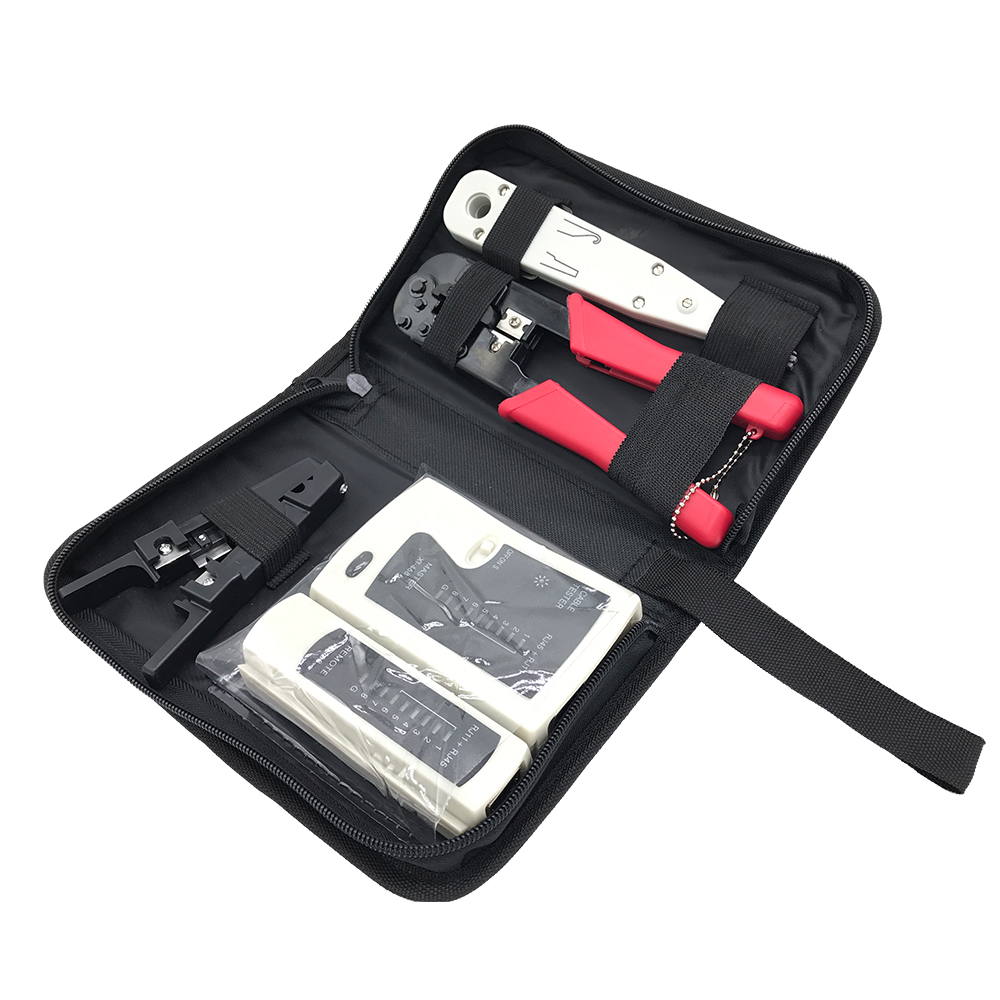 Network Ethernet Cable Tester RJ45 RJ11 RJ12 CAT5 CAT5e Cat 6 and Crimper Crimping Tool Punch Down Wire Line Detector 4-in-1 mogood network tool cheaper 3 in 1 crimper tool cable test wire stripping knife 50 pieces rj 45 connectors