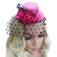 Женская сетчатая шляпа, головной убор, элегантный цветок, Свадебная женская заколка