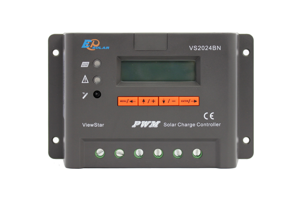 20A 20amp EPEVER Solar controller EPsolar regulator lcd display VS2024BN 12v 24v auto work PWM epever solar charging controller with temperature sensor vs2024bn epsolar pwm controller 20a 12v 24v auto work