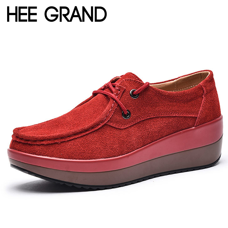 HEE GRAND Platform Shoes Woman 2018 Loafers Weave Flats Causal Creepers Comfort Slip On Women Shoes 5 Size 35-40 Colors XWC1303 jingkubu 2017 autumn winter women ballet flats simple sewing warm fur comfort cotton shoes woman loafers slip on size 35 40 w329