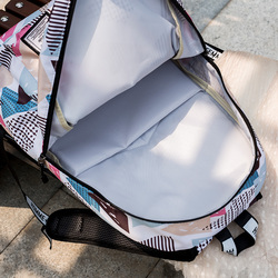 Wodoodporna szkoła Plecak dla nastolatek Mochila Escolar tornister Szkolny drukowanie Plecak Szkolny Nylon Zaino Scuola 6