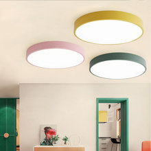 Modern minimalist living room bedroom study restaurant aisle balcony led Nordic lighting macaron creative ceiling lamp modern minimalist fashion crystal living room lamp designer luxury atmospheric bedroom study ceiling lamp led lighting fixture