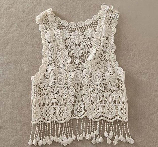 27cb877dd466c Summer children cardigan jacket girls crochet lace hollow tassel vest  outfits baby fringed tops for 1-5Y kids clothes