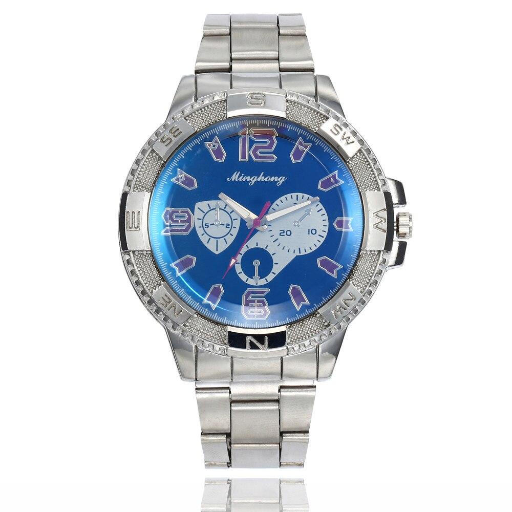 Новые роскошные часы моды Нержавеющаясталь часы для Для Мужчин Кварцевые аналоговые наручные часы Мужские часы Relógio masculino erkek коль saati