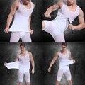 Мужские тело животик пояс корсет жилет Shapewear нижнее белье компактно упаковываемый рубашка