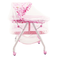 CANCHN newborn baby bed, portable baby cot, foldable baby crib, can be rocking bed