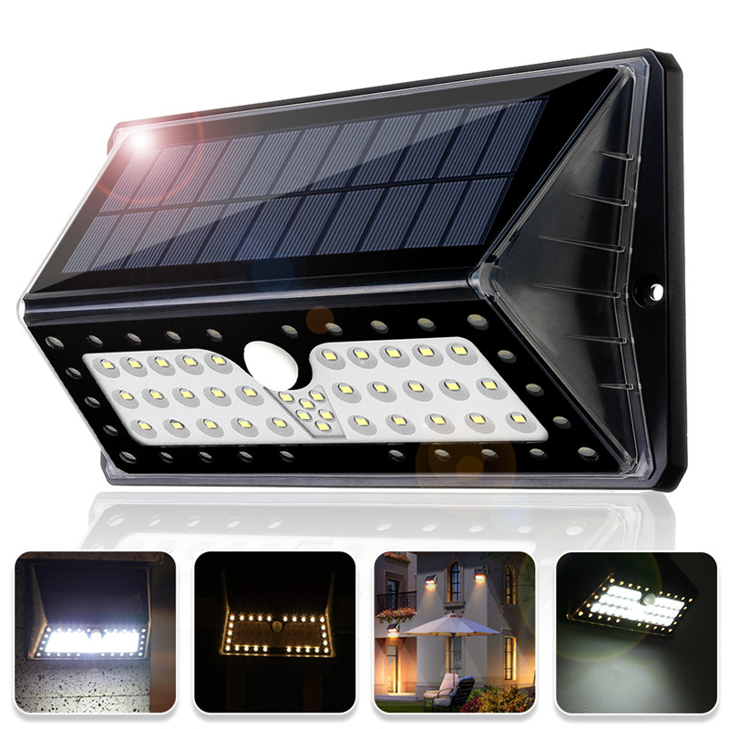 New Solar Powered Wall Lamps Outdoor Motion Sensor Lights 62LED Night Security Waterproof For Garden Front Door LightingNew Solar Powered Wall Lamps Outdoor Motion Sensor Lights 62LED Night Security Waterproof For Garden Front Door Lighting