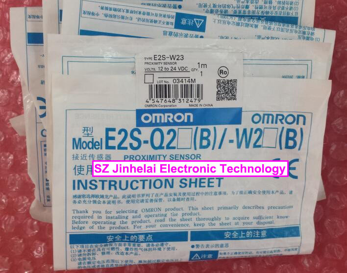 New and original E2S-W23 OMRON Proximity sensor,Proximity switch, 12-24VDC 1M [zob] 100% brand new original authentic omron omron photoelectric switch e2s q23 1m 2pcs lot
