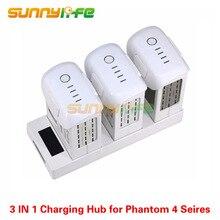 Батарея параллельно зарядки HUB зарядки доска 3in1 с цифровым Дисплей для DJI Phantom 4 все серии