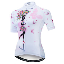 Maillot Women Cycling Jersey Retro Bike MTB Race Fit Ladies Clothing Ropa Ciclismo Bicycle 2019 S-5XL