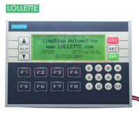 PLC&HMI LE OP330 OP330 operate panel 10DI/8DO Transistors Relay new in box HMI Software version: V8.0q