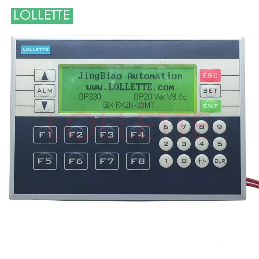 PLC&HMI LE-OP330 OP330 operate panel 10DI/8DO Transistors new in box HMI Software version: V8.0q plc ethernet plc elc 12dc da r n hmi built in ethernet capability