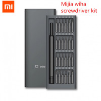 Original Xiaomi Mijia Wiha Daily Use Screwdriver Kit 24 Precision Magnetic Bits Alluminum Box Screw Driver