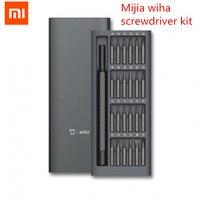 Original Xiaomi Mijia Wiha Daily Use Screwdriver Kit 24 Precision Magnetic Bits Alluminum Box Screw Driver