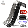 Para samsung gear s3 calidad pulsera de acero inoxidable venda de reloj de 22mm correa de metal de reemplazo para hombres
