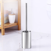ANHO Strong Decontamination Toilet Brush Set Stainless Steel Cleaning Brush Holder Kit WC Bathroom Clean Accessories