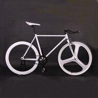 Fixed gear bike Magnesium Alloy Wheel 3 spokes fixie Bicycle700C wheel 70mm Rim 52cm frame BIKE Complete Road Bike