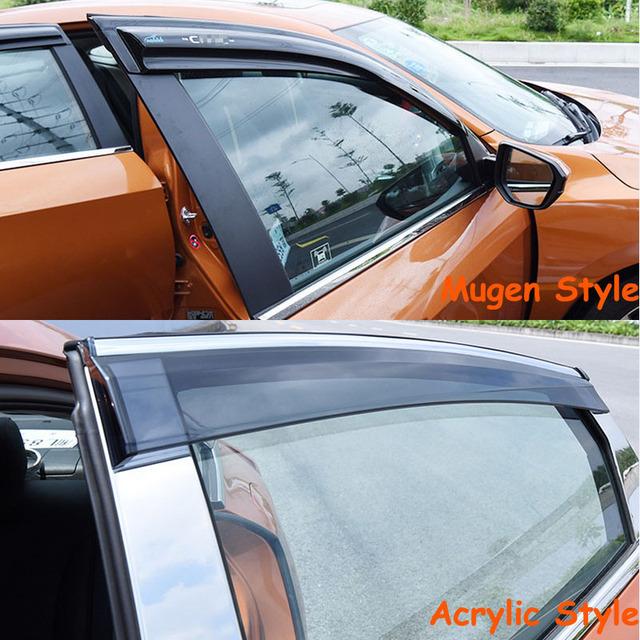 Alta Calidad 2 ESTILOS! ventana Deflector SUN/RAIN Visor Para Honda Civic 4DR décima Generación 2016 17