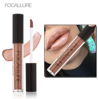 FOCALLURE Soft Matte Lip Cream Lip Gloss Chameleon Matte Lipstick Shimmer Glitter Lip Gloss 6ML Lipgloss Kit