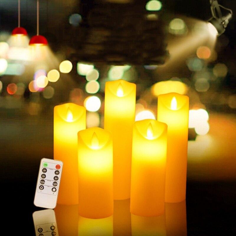1 Pack 10 Fernbedienung Neue Jahr Kerzen Batterie Powered Led Tee