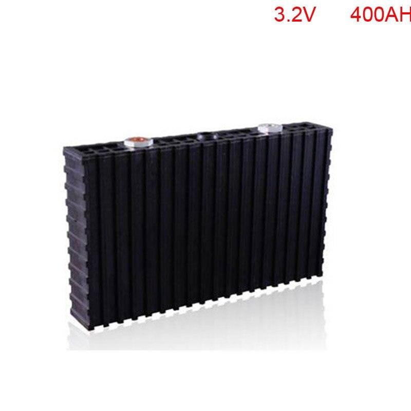 4 pçs/lote preço de fábrica 3.2 V 400Ah LiFePO4 bateria para carrinhos de golfe, sistemas solares em casa