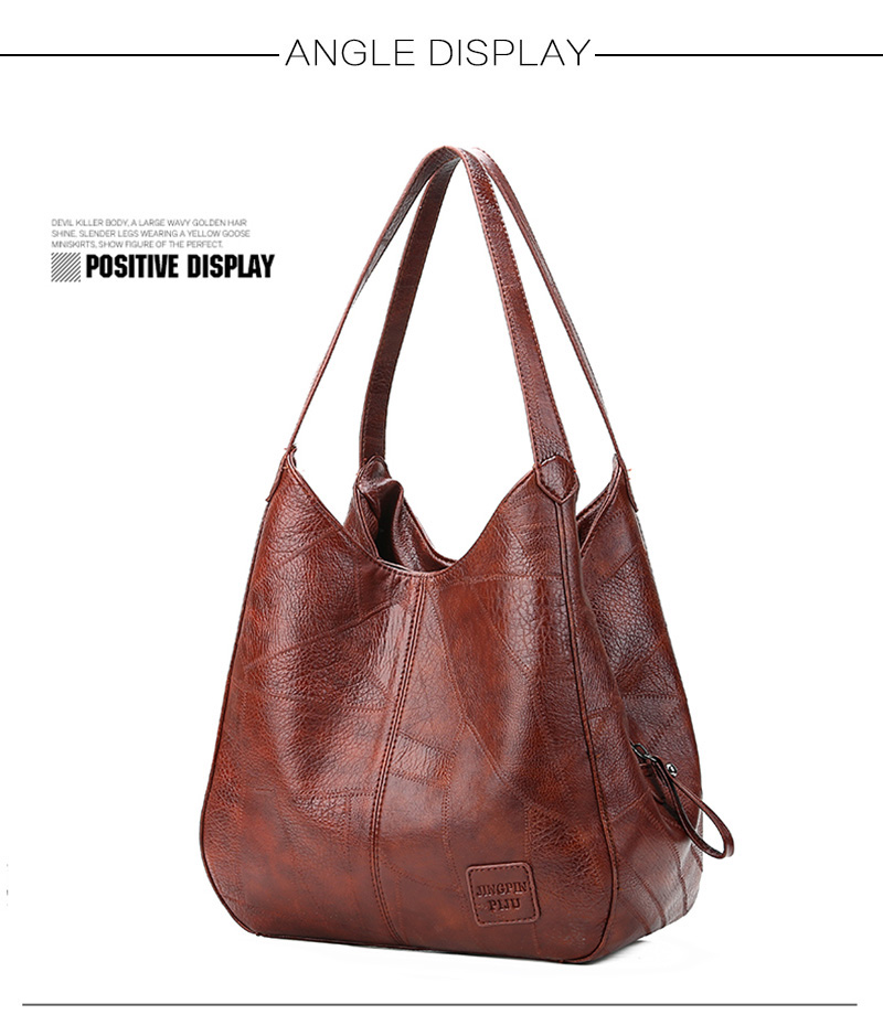 2019 Vintage Women Shoulder Bag Female Causal Totes Bags Large Capacity Luxury Designer High Quality Ladies Handbag Sac Femme 5