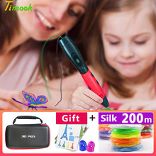 3d pen pens,1.75mm ABS/PLA Filament,3 d model,Creative printing pen,new Year gift Kids birthday present Christmas