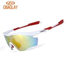 OBAOLAY 5 Lens Cycling Glasses MTB Bike Road Riding Sunglasses Night Version Fishing Outdoor UV400 Polarized Goggles Eyewear