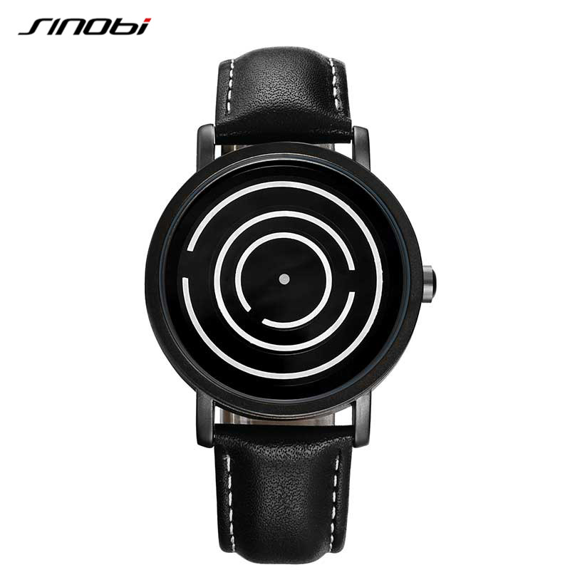 SINOBI Creative Mens Watches Top Brand Luxury Quartz Watch Men Clock Leather Watch Relogio Masculino 2018 Valentines Gift #9630 new listing men watch luxury brand watches quartz clock fashion leather belts watch cheap sports wristwatch relogio male gift