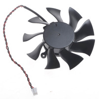 FD8015U12S 2wire 2Pin PC Computer VGA Cooler Fan For XFX HD6790 Graphics Video Card Cooling