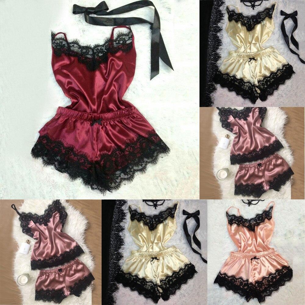 Fashion Women Sleepwear Sexy Lace Lingerie Temptation Babydoll Nightdress  Underwear