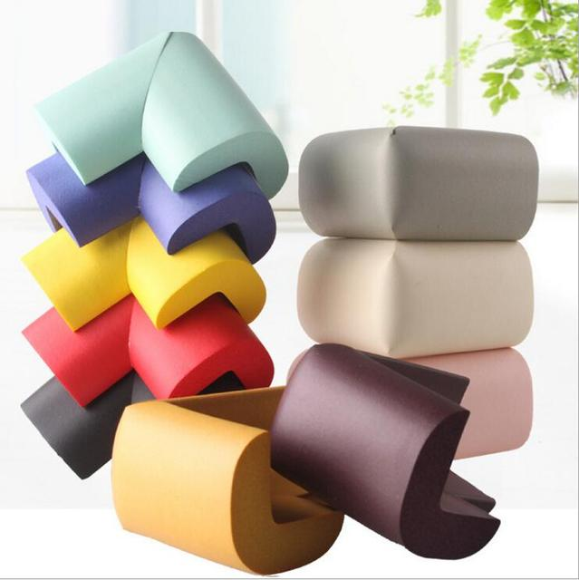 4pcs Right Angle Toddler Baby Child Kids Desk Table Edge Corner Safety Protector Guards Sticker Cushion Pad Anti Crash Bumper