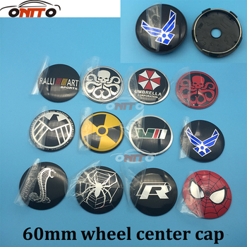 4pcs 60MM Car Wheel Center Center Hub Cap Emblem Wheel Dust-proof Emblem Covers for Umbrella Snake Hydra Spider R VII emblem