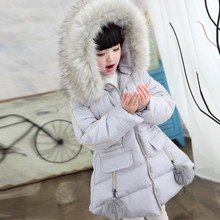 New  Winter Jackets Girls Hooded Thickness Kids Coats   Winter Jacket   8WC052