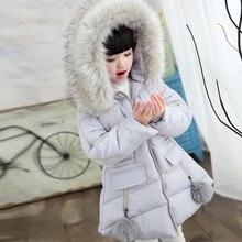 Yeni kışlık ceketler Kız Kapşonlu Kalınlık Çocuklar Palto Kış Ceket 8WC052