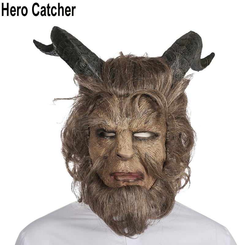 Hero Catcher High Quality Beast Mask 2017 Movie Beast Face Mask With Hair