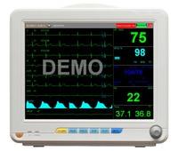 12 inch Patient Monitor 7 lead display 6 parameter ports Multi Parameter ECG SPO2 NIBP TEMP RESP HR option etco2