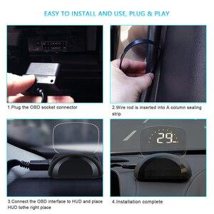 Image 5 - C700 و C700S OBD2 سيارة غس هود رئيس متابعة العرض مع مرآة الإسقاط الرقمي سيارة السرعة الزائدة إنذار نظام إشارة تنبيه للسلامة